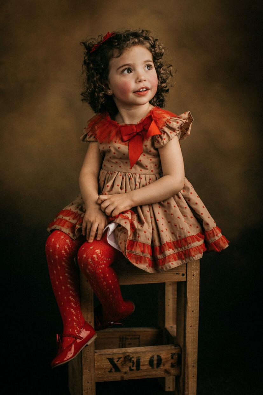 Fotografía infantil de estudio